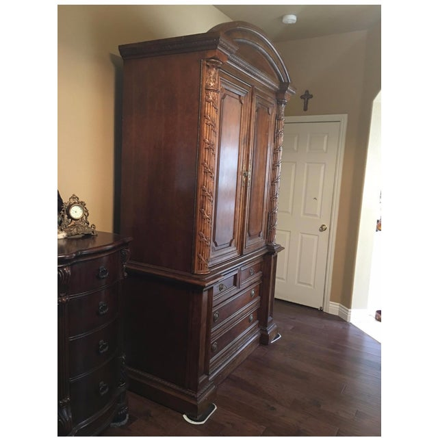 Hekman 2-Piece Armoire For Sale - Image 4 of 6