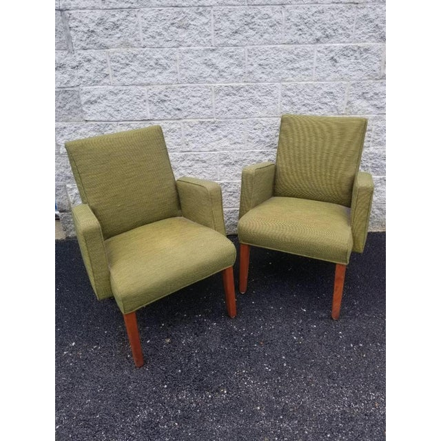 1970s Mid Century Modern Green Lounge Chairs by Milwaukee Chair Company - Pair For Sale - Image 5 of 9