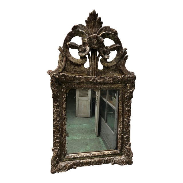 Louis XIV Mirror, Carved Gilt Wood Provincial For Sale