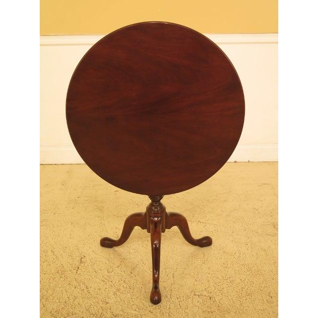 Kittinger Historic Newport Hn-6 Mahogany Tilt Top Table For Sale - Image 11 of 11