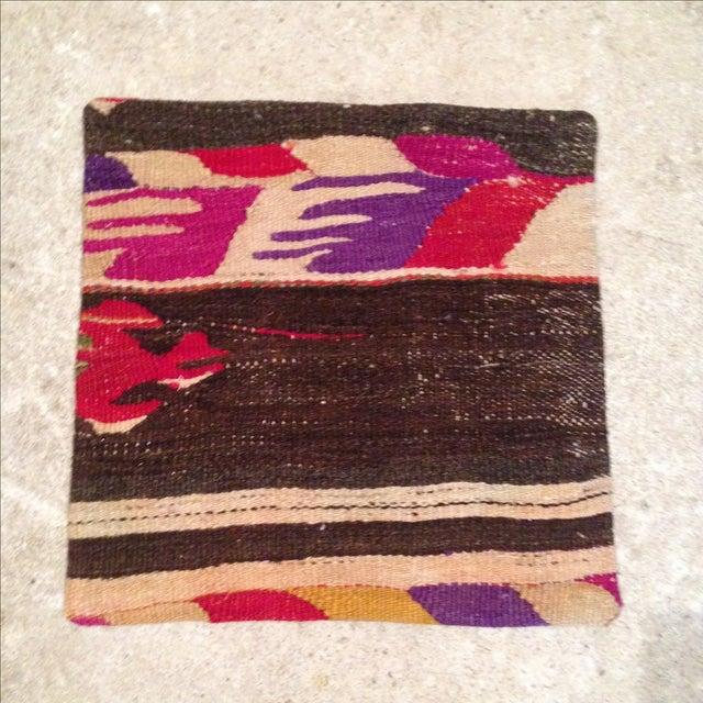 Vintage Striped Kilim Pillow Case - Image 2 of 5