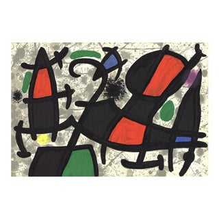 Joan Miro, Derriere Le Miroir, No. 186, Pg 16,17, Lithograph, 1970 For Sale