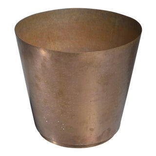 Hayno Focken brass planter, Germany, 1930s For Sale