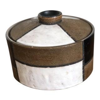 Raymor Aldo Londi / Bitossi Italy Mid Century Lidded Bowl For Sale