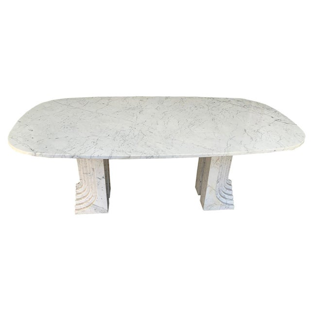 Stone 1970s Carrara Marble Dining Table For Sale - Image 7 of 7