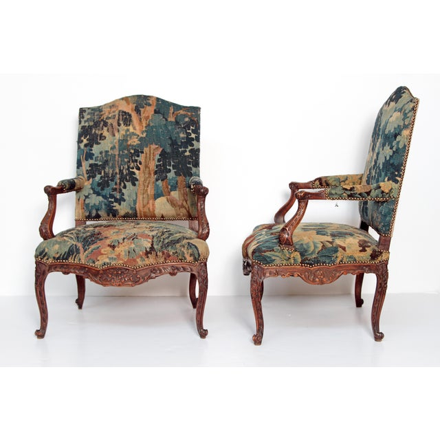 Pair of Period Louis XV Fauteuils - Image 3 of 9