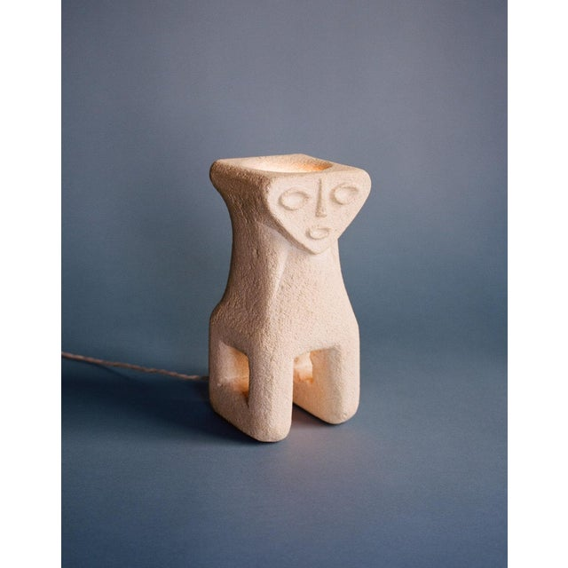 A small stone table lamp by French sculptor Albert Tormos. Tormos set up a studio and shop in St. Tropez during the 1970s,...