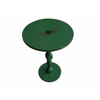 1960s Restored Vintage Green Side Table