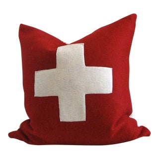 Swiss Army Cross Wool Pillow Cover For Sale