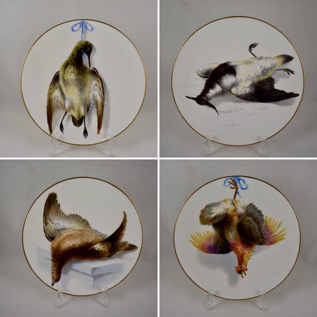 19th C. Bodley Staffordshire Dead Game Plate, the Grouse For Sale - Image 10 of 11