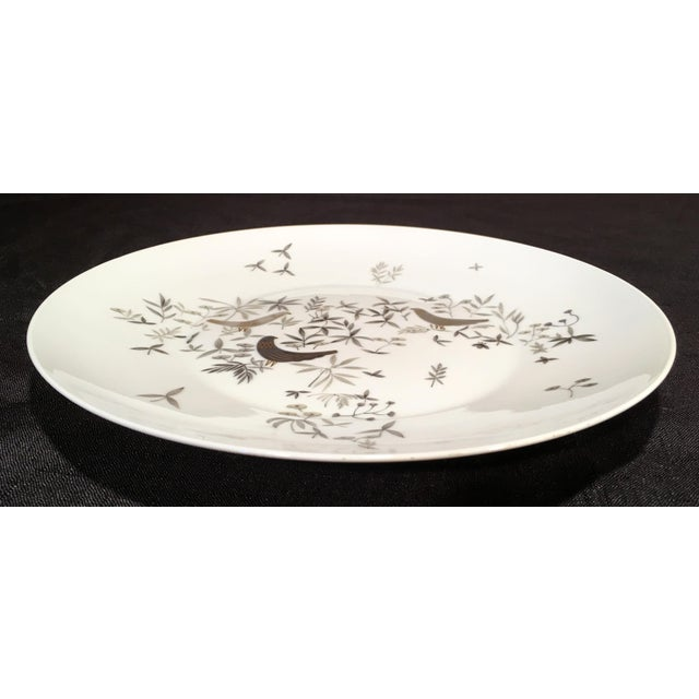 Raymond Loewy 1960s Vintage Raymond Loewy for Rosenthal Birds on Trees Porcelain Plate For Sale - Image 4 of 7