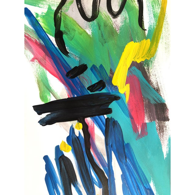 Contemporary Day 184 Jessalin Beutler Original Painting on Paper For Sale - Image 3 of 5