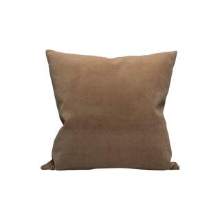 Scalamandre Georgia Suede Pillow, Dune For Sale
