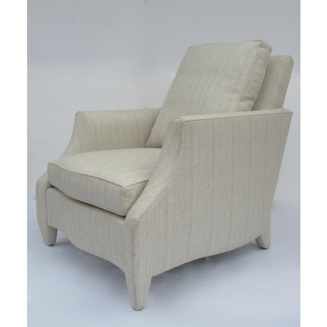Contemporary Donghia Ogee Club Chair and Ottoman For Sale - Image 3 of 13