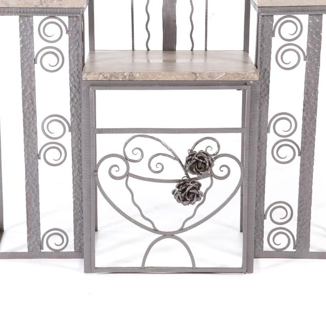 French Art Deco Iron Hall Rack For Sale - Image 4 of 4
