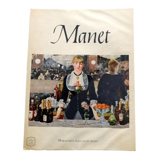 1950s Vintage Manet Art Book, 16 Prints For Sale