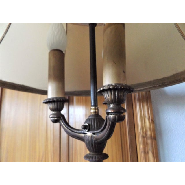 1930s Vintage Victorian Iron & Brass Floor Lamp For Sale - Image 4 of 11