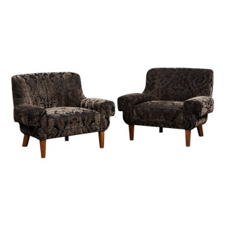 Pair of Custom Armchairs by Paul Laszlo For Sale