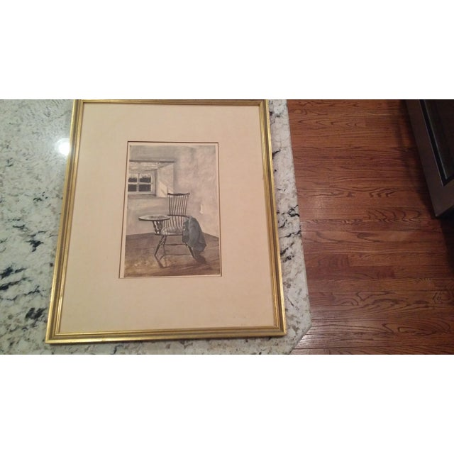 "I bought this Andrew Wyeth ""Early October"" drawing 20 years ago. He was an artist from the general area we are from. Love..."