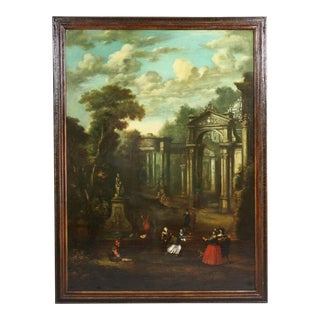 Flemish Capriccio Oil Painting on Canvas by John Miel For Sale