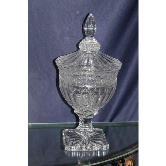 1950s Irish Crystal Candy Dishes- A Pair For Sale - Image 5 of 7