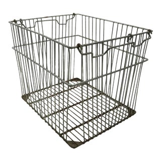 Industrial Wire Carry All Basket For Sale