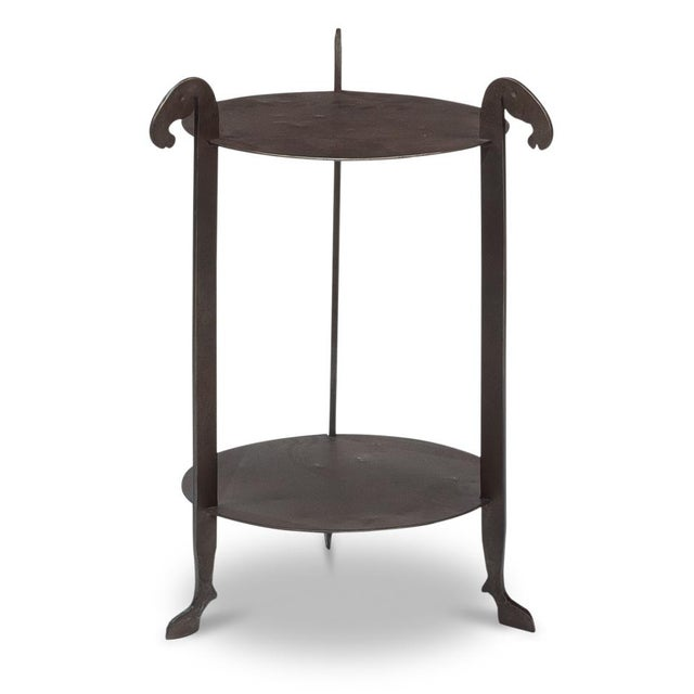 Rustic Sarreid Forged Horse Leg Side Table For Sale - Image 3 of 13