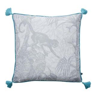 Contemporary Ubud Grey Cushion For Sale