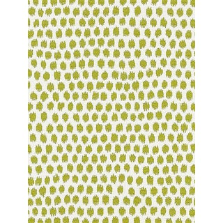 Sample, Scalamandre Dot Weave, Chartreuse Fabric For Sale