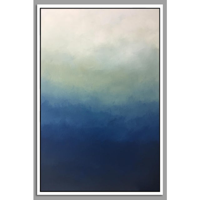 """Abstract Blue Ombre"" Framed Giclée - Image 2 of 3"