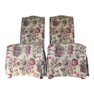 Ethan Allen Upholstered Side Chairs - Pair For Sale