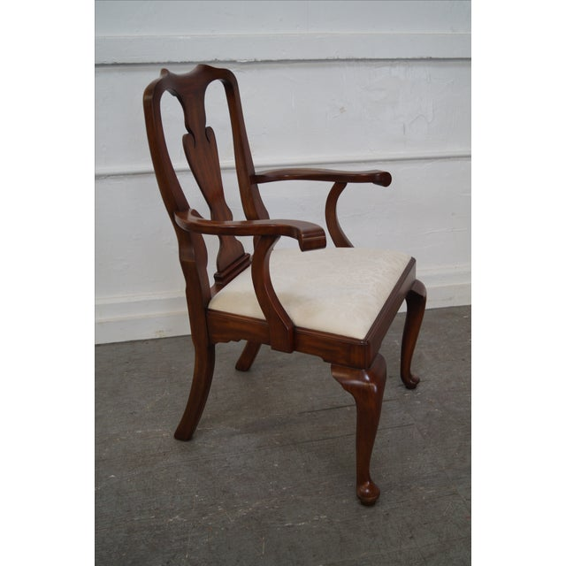 Henkel Harris Cherry Wood Queen Anne Chairs - 6 - Image 7 of 10