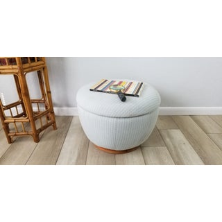 Mid-Century Adrian Pearsall Style Swivel Pouf Round Ottoman Preview
