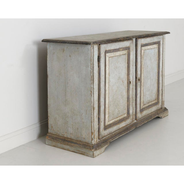 Gray 19th Century Italian Abruzzo Two-Door Buffet in Original Paint For Sale - Image 8 of 13