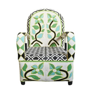 Yoruba Beaded Chair For Sale