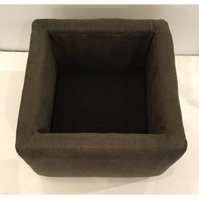 Transitional Transitional Dark Gray Storage Ottoman For Sale - Image 3 of 5