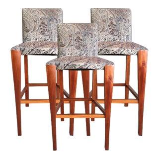 Modern Dakota Jackson Upholstered Bar Chair For Sale