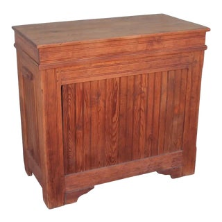 19th Century Rustic Pine Feed Bin With Bread Board Built In For Sale