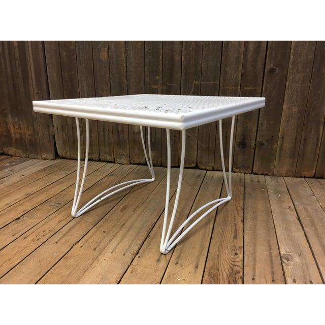 Mid Century Modern White Homecrest Side Table - Image 2 of 11