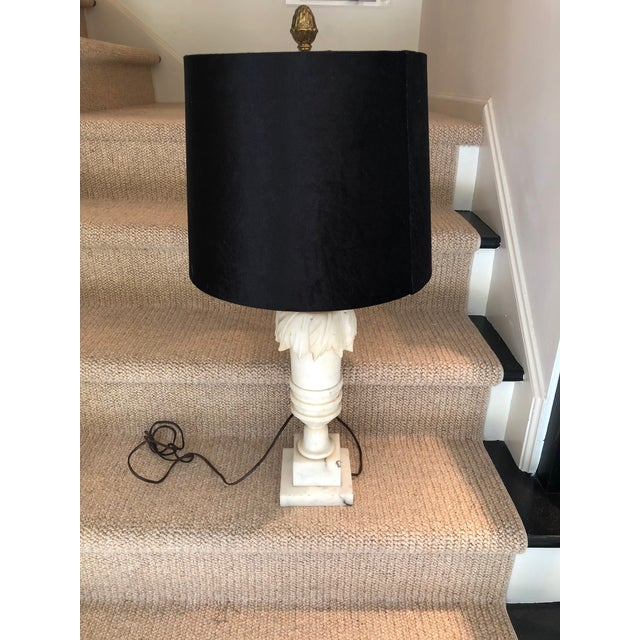 Neoclassical Alabaster Table Lamp For Sale - Image 9 of 9