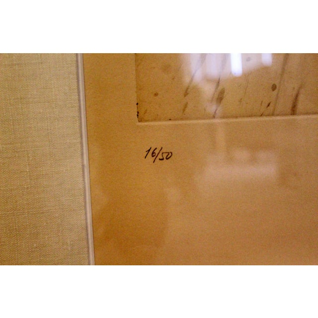 Aquatint Modern Miro Terre Atteinte Et Soleil Intact Color Etching Aquatint 16/50 COA '73 For Sale - Image 7 of 9