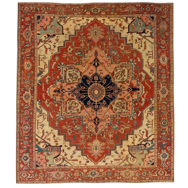 """Modern Pasargad Home Serapi Lamb's Wool Area Rug- 10' 3"""" X 11' 7"""" For Sale"""
