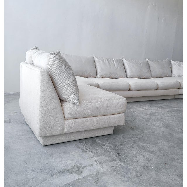 Textile Monumental Curved Modular Sectional Sofa by Directional For Sale - Image 7 of 9