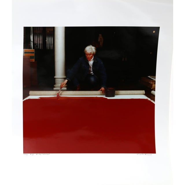 Andy Warhol Red Series Ii, Photo Portrait by Curtis Knapp For Sale - Image 4 of 4