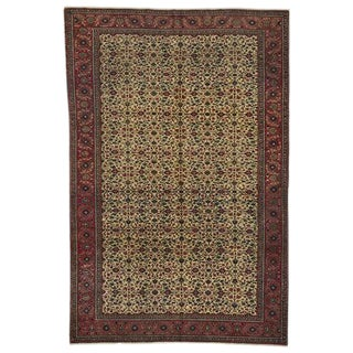 Large Hand-knotted Turkish Kayseri Rug W/ Floral Field Circa 1930