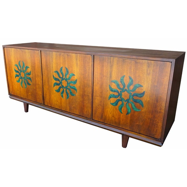 Cal Mode Resin & Walnut Credenza - Image 1 of 5