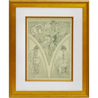 1900s Vintage Alphonse Mucha Poster For Sale