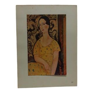 "1947 Vintage ""La Belle Espagnole"" Modigliani French Mounted Color Print For Sale"