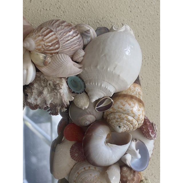 Vintage Coastal Artist Made Shell Mirror For Sale In Miami - Image 6 of 8