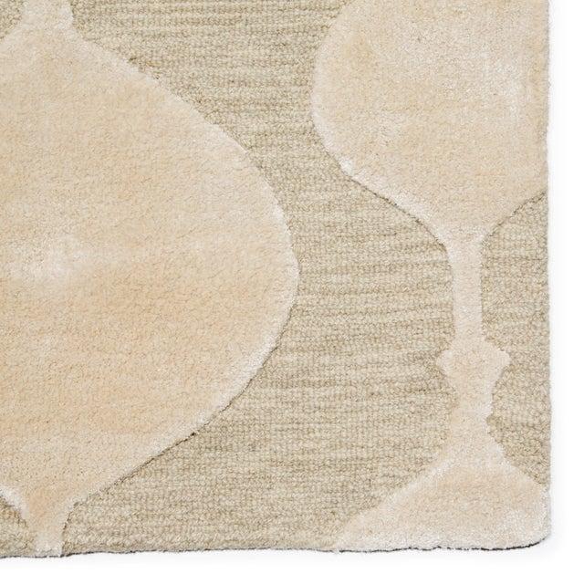 Contemporary Nikki Chu by Jaipur Living Sui Handmade Geometric Beige/ Cream Area Rug - 5′ × 8′ For Sale - Image 3 of 6
